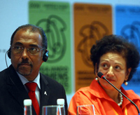 Michel Sidibé and Nilcéa Freire