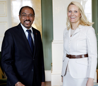 Michel Sidibe and Mette Marit