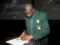 Captain of the South Africa Football Team Mr Aaron Mokoena