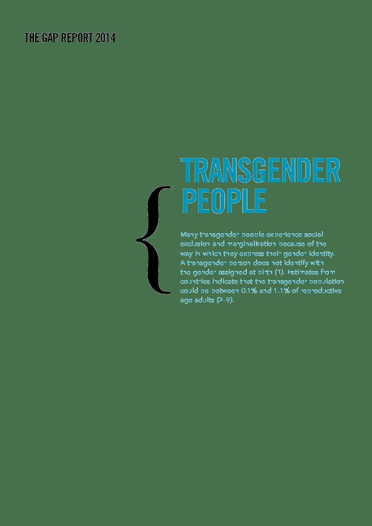 transgender people | unaids