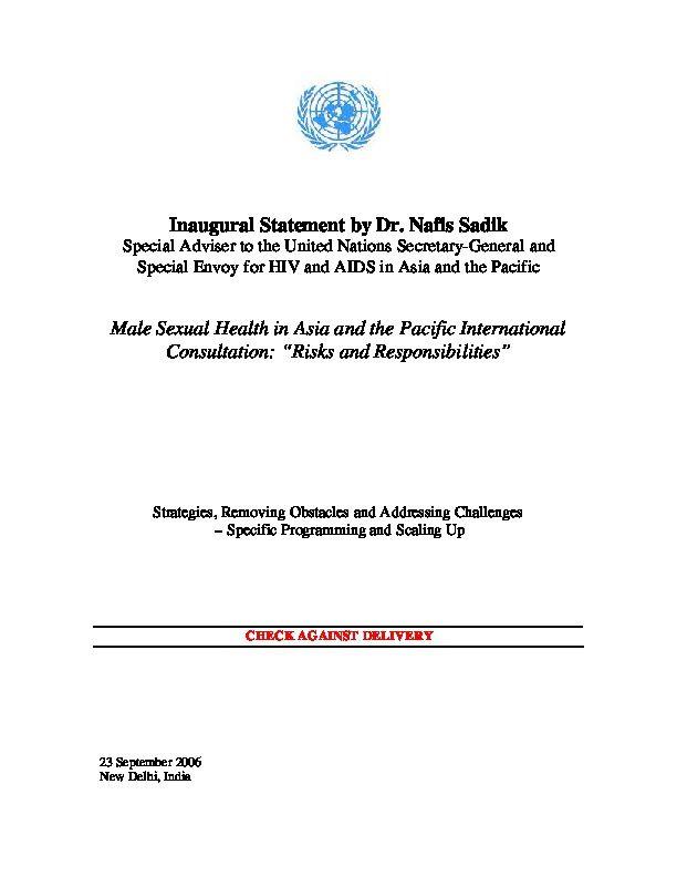 Male sexual health pdf