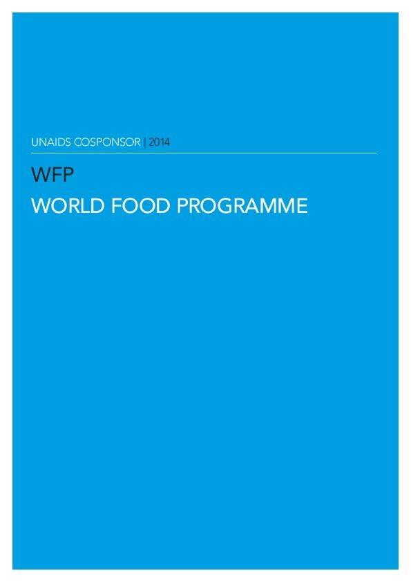 UNAIDS Cosponsor   2014   World Food Programme   ONUSIDA