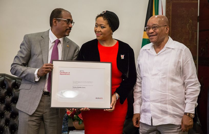 The Executive Director of UNAIDS commends the President of