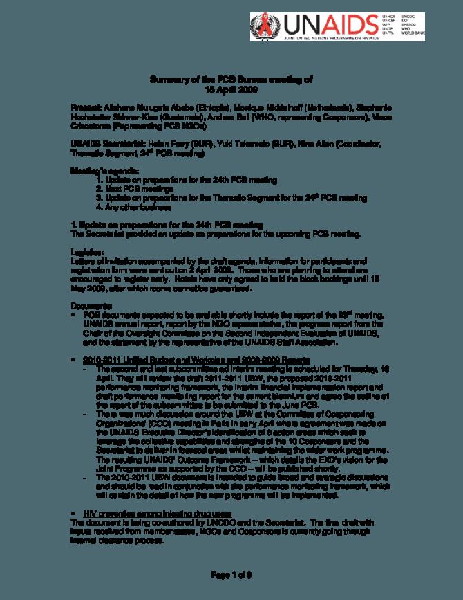 UNAIDS Governance | UNAIDS