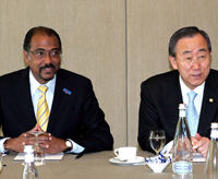 Michel Sidibe and Ban Ki-moon
