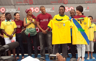 "Brazilian football legend Pelé joined Gabon's ""CAN without AIDS"" Campaign"