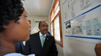 UNAIDS Executive Director, Michel Sidibé visited the José Macamo General Health Center in Maputo to learn more about the services offered around maternal and child health services.